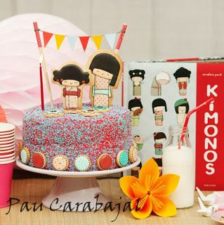 KOKESHI CAKE Emma bought daughter #1 this book. Love the idea of basing a party around it.