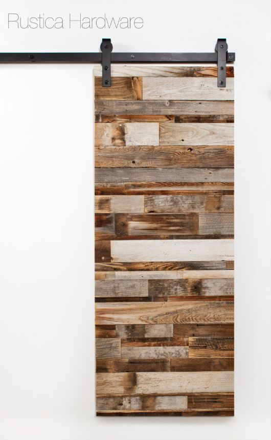 porte coulissante bois recyclé