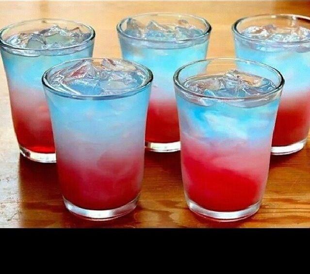 Summer time Drink Favorite: Ciroc Bomb Pop Shots... Blue Ciroc, Cranberry Juice, Piña Colada drink  Blue Gatorade