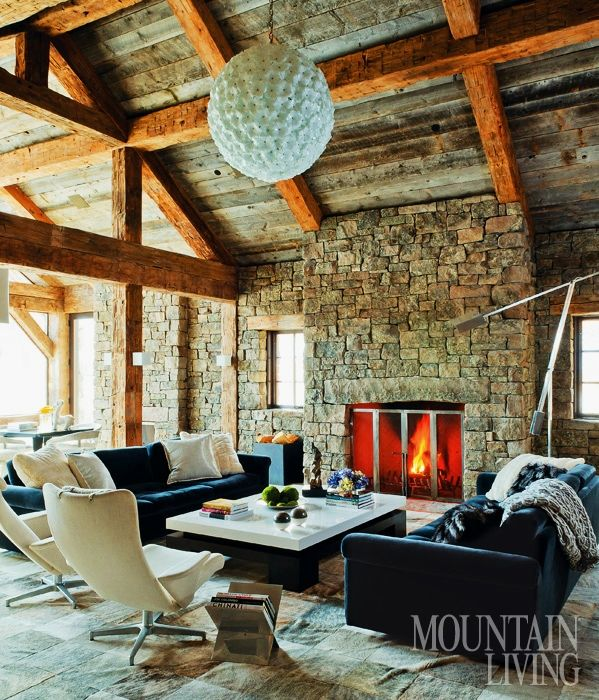 Rustic Redux By On Site Management And Jonathan L. A Rugged Ski Chalet,  Adorned With Bear Skin Rugs And Antler Chandeliers, Was Not What Rustic