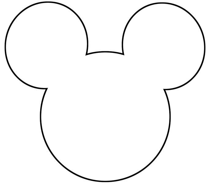 free printable mickey mouse silhouette - Google Search                                                                                                                                                      More