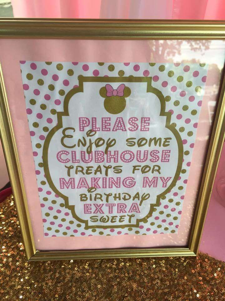 Pretty pink and gold ballerina Minnie Mouse birthday party! See more party ideas at CatchMyParty.com!