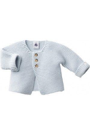 Petit Bateau Baby Cardigan Light Blue