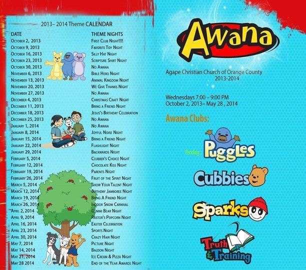Awana Calendar