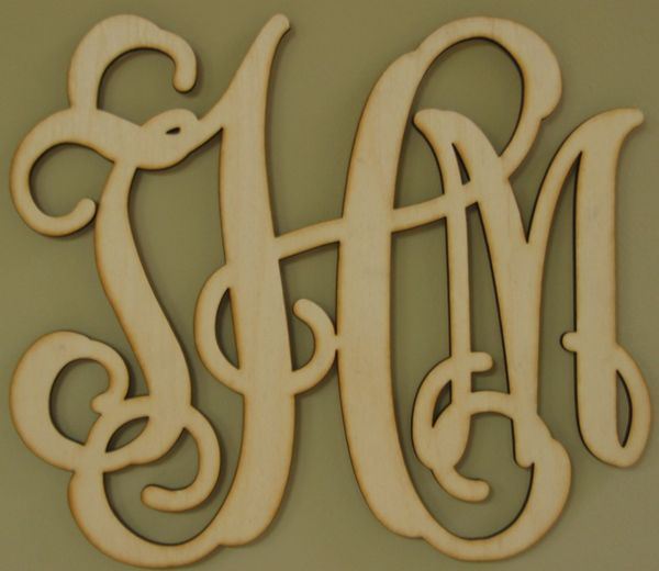 Southern Proper Monograms $18 for unfinished wood...great present idea.