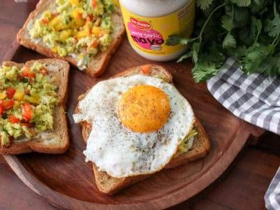 Avocado Salsa Open Multigrain Toast With Fried Egg Recipe
