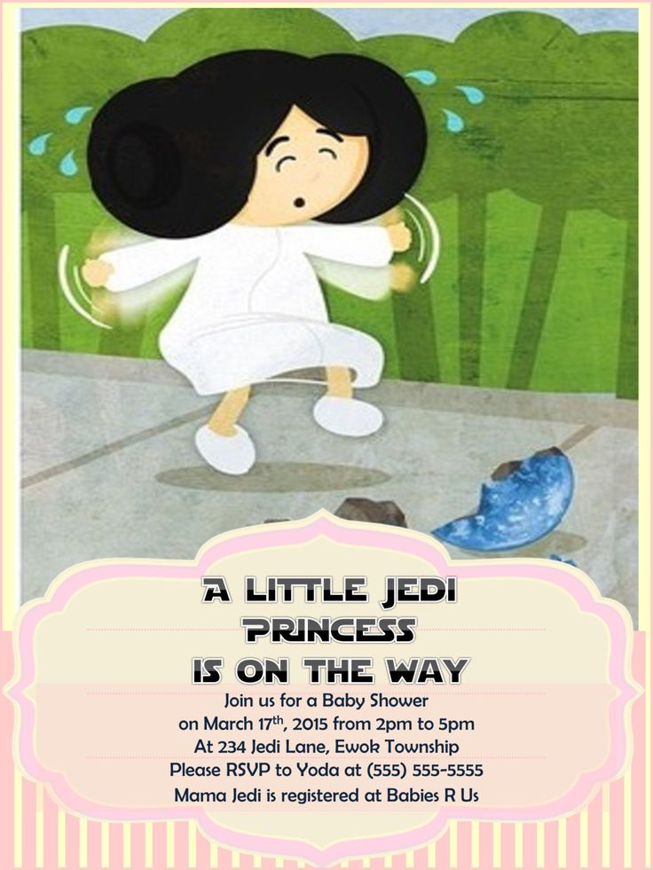Star Wars Baby Shower Invitation Princess Leia Girl Baby Shower Invitations  Shower Sprinkle