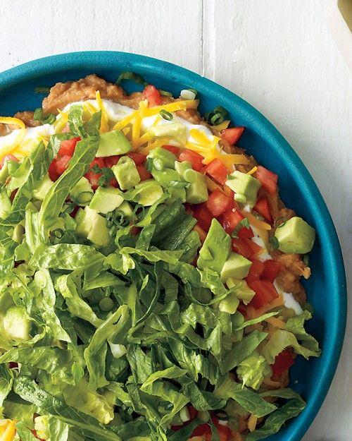 8-Layer Dip - Martha Stewart RecipesVegetarian Appetizers, Sour Cream, Fun Recipe, Parties Dips, Dips Recipe, Beans Dips, 8 Layered Dips, 8Layer Dips, Graduation Parties