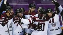 2014 Olympics Sochi, Russia  Eleventh-seeded Latvia beat sixth-seeded Switzerland 3-1 for its first victory of the tournament.