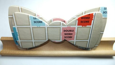 - Upcycled Scrabble Bow Ties