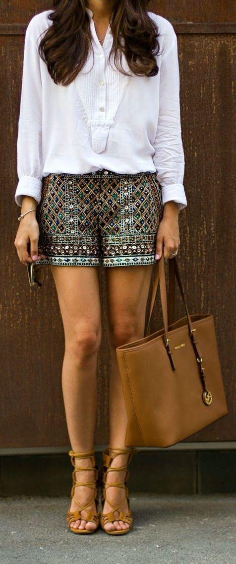 Embellished shorts.                                                                                                                                                      More