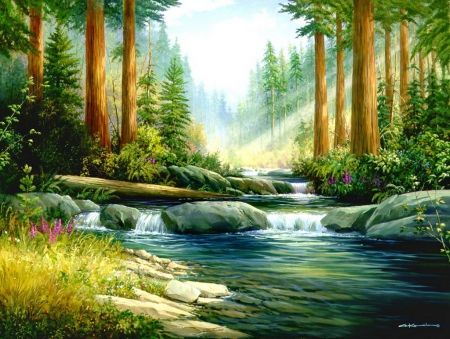 Image result for water stream painting