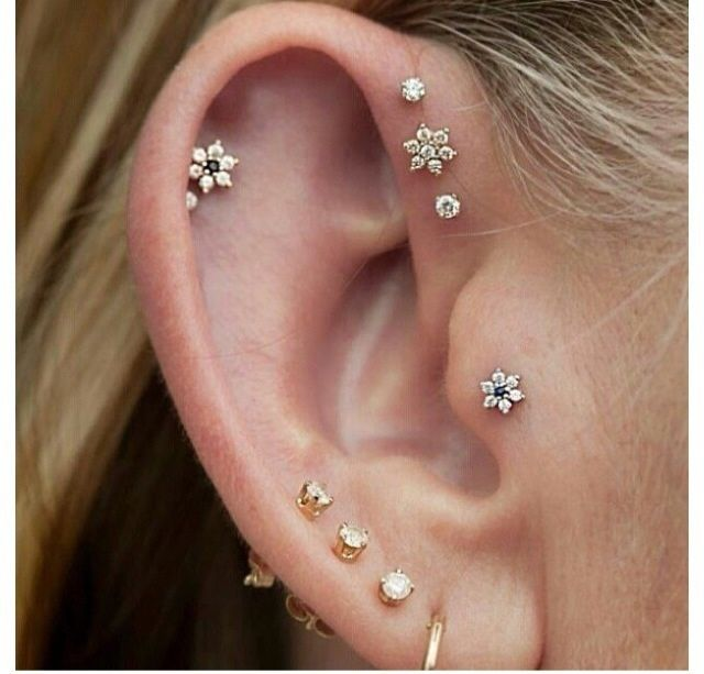 pretty little earrings for helix or tragus piercings