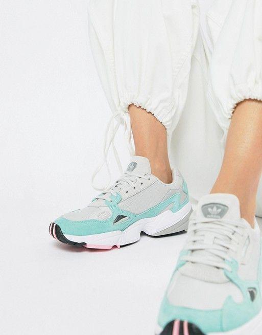 how to buy nice cheap best sale adidas Originals | adidas Originals Falcon Sneaker In Gray ...