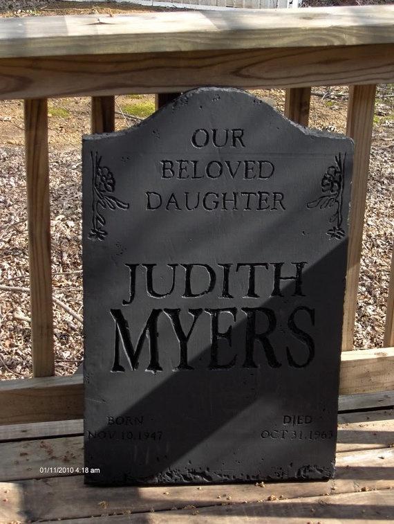 replica halloween tombstone michael myers on etsy 5000 - Michael Myers Halloween Decorations