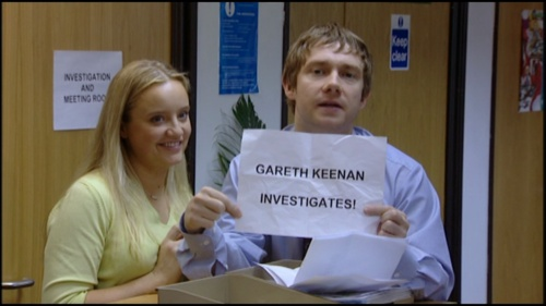 """The Office (UK) - """"And my personal favorite: GARETH KEENAN INVESTIGATES!"""""""
