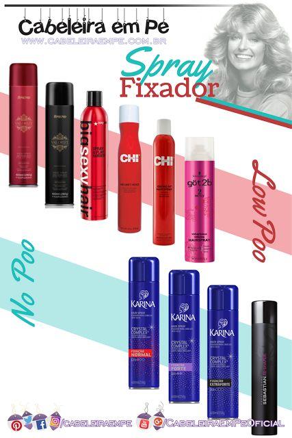 Sprays Fixadores (Laquê) para os cabelos liberados para No Poo e/ou Low Poo (Amend, Big Sexy Hair, CHI, Got2b (Schwarzkopf), Karina e Sebastian)