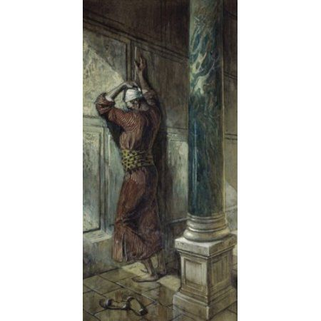 Praying in the Temple James J Tissot (1836-1902French) Jewish Museum New York Canvas Art - James Tissot (24 x 36)