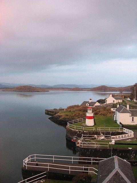 CRINAN lighthouse;Crinan Canal.Lochgilphead.Scotland