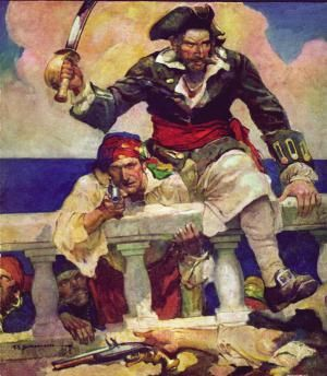 The Golden Age of Piracy were active around the 17th and early 18th century.