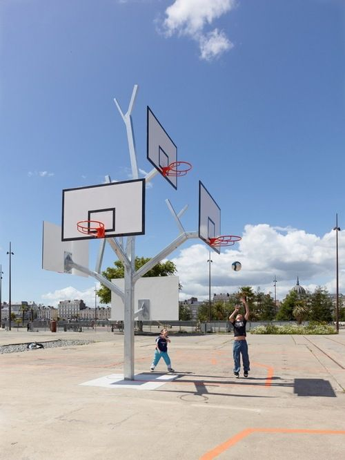 Basketball Tree in Nantes, France