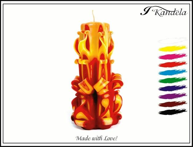 Carved Candles - Made with love!