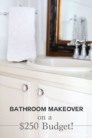 Bathroom Sink Cabinet Makeover With Clock Face Cabinet