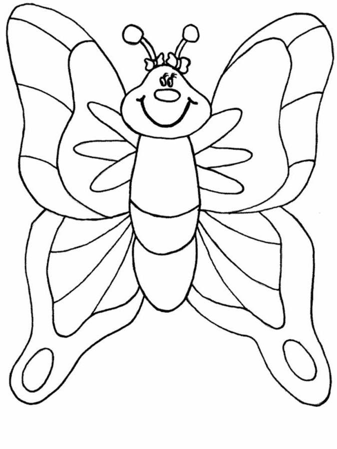 Kids Butterfly Coloring Pages for Preschool Animal