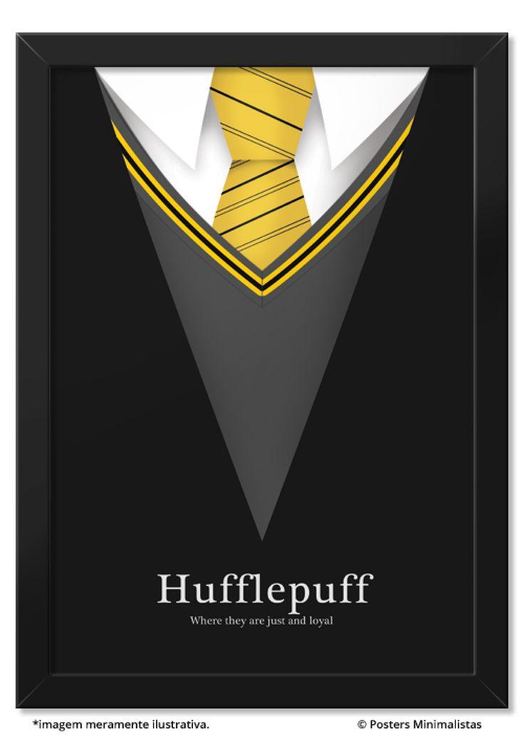 Hufflepuff - Todos os Posters | Posters Minimalistas