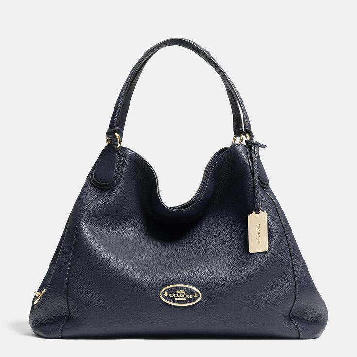 Coach Edie Shoulder Bag in Pebble Leather ♥