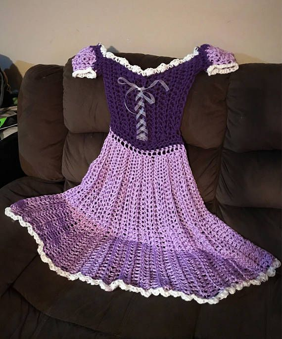 Crochet Princess Blanket Dress.. 2 day FREE SHIPPING SALE
