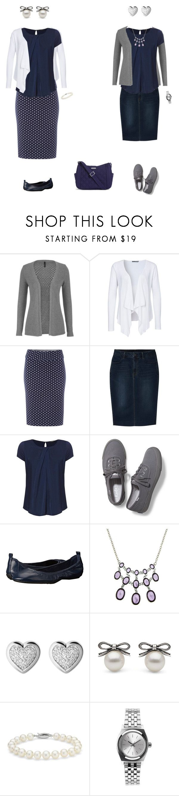 """Pleated navy blouse set 1"" by tracy-gowen ❤ liked on Polyvore featuring maurices, Soaked in Luxury, White Stuff, Uniqlo, Keds, Cole Haan, 1928, Links of London, Blue Nile and Nixon"