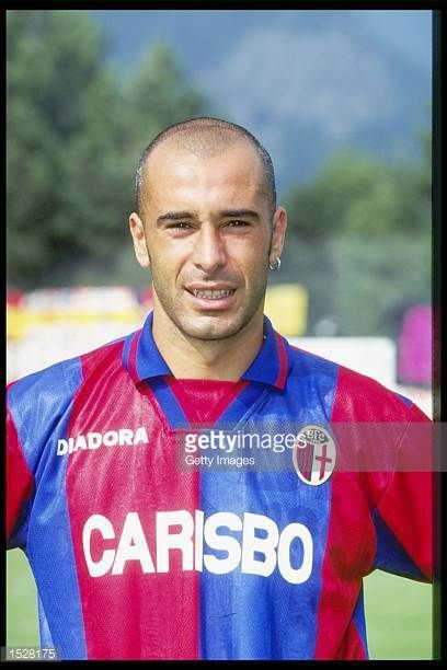 A portrait of Stefano Torrisi of Bologna taken during the club photocall Mandatory Credit Allsport UK