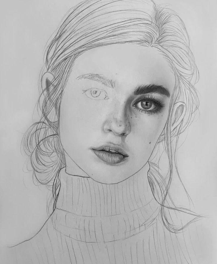 Рисунки карандашом портреты людей
