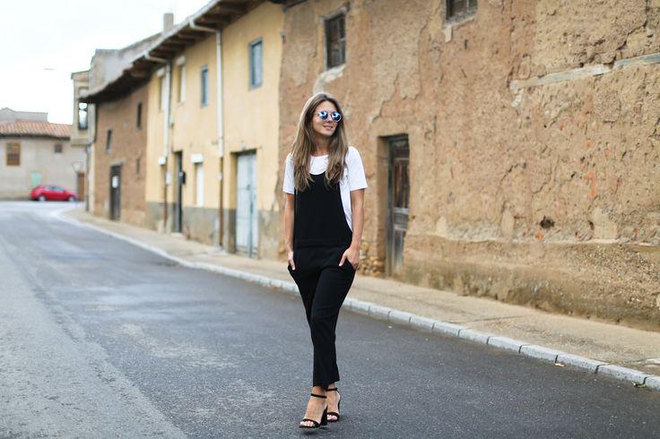 Zara jumpsuit COS tshirt Celine Bag Zara sunnies Zara sandals