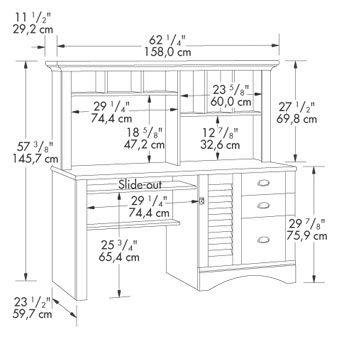 Desk Hutch Dimensions Google Search Furniture Planning