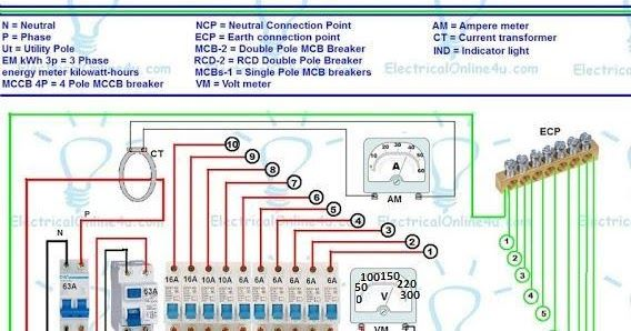 3 Phase Wiring Installation In Multi Story Building Or House With Kwh Mccb Mcb Rcd Voltmeter Ammeter Earthing Sy Installation Indicator Lights Light Pole