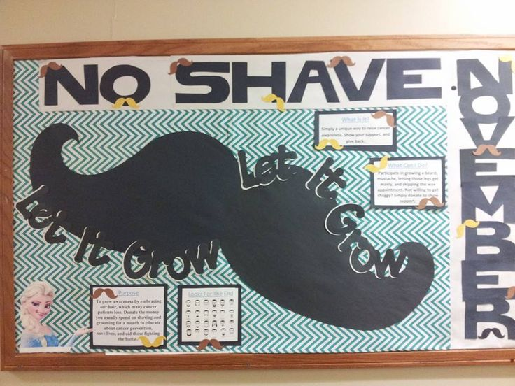 "November Bulletin Board ""No Shave November"" #RA #ResLife #BulletinBoard"