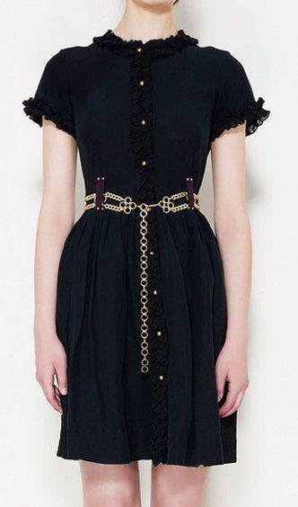 Lauren Moffatt Black Dress