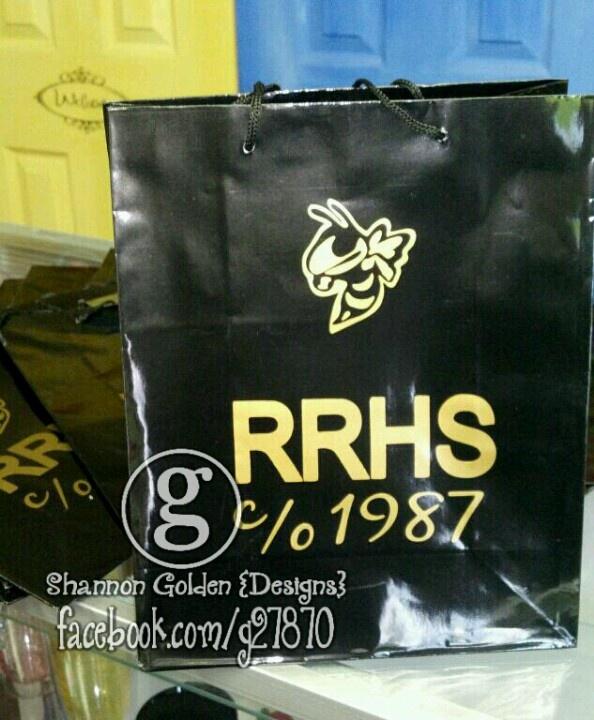 Class Reunion Decor/gift Bags