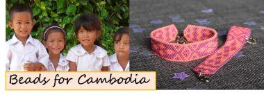 Handmade beaded jewellery for charity. Cambodia. Children.
