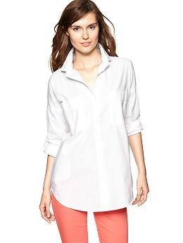1969 white chambray tunic   GapWhite Tunics, Gap 1969, White Buttons, 1969 White, Gap White, Chambray Tunics, Style File, White Chambray, Fashion File