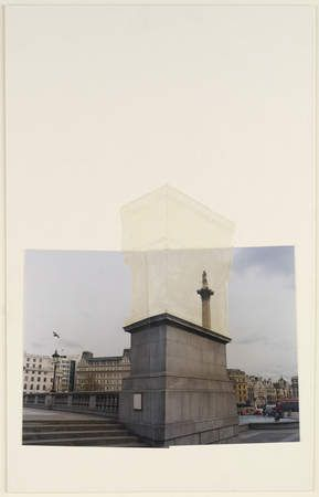 Rachel Whiteread, sketch with whiteout (?) for proposed design for the fourth plinth in Trafalgar Square, London. This drawing was exhibited at a retrospective of her drawings at Tate Britain in 2010. http://www.guardian.co.uk/artanddesign/gallery/2010/sep/12/art-exhibition