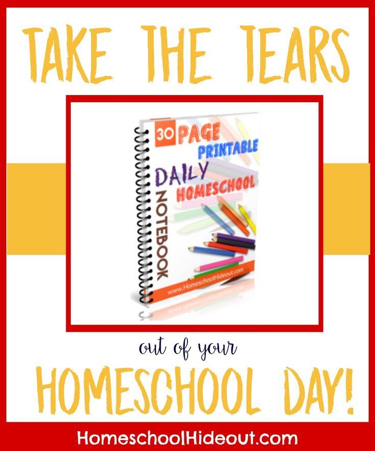FREE Printable Homeschool Daily Notebook