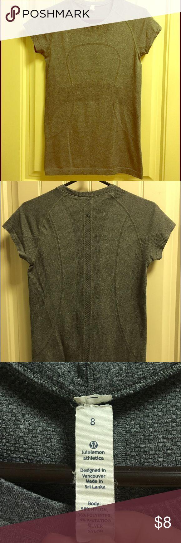Lululemon Athletica Gray T-shirt Size 8 Lululemon Athletica Gray T-shirt Size 8 lululemon athletica Tops Tees - Short Sleeve