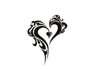 Heart Tattoo Designs | Free designs - Tribal heart tattoo wallpaper