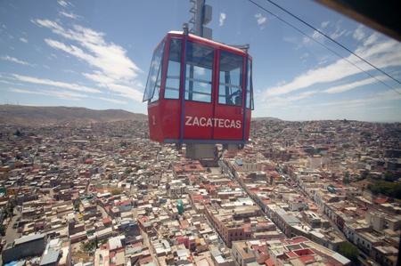 Sky-lining in Zacatecas, Zacatecas; Mexico