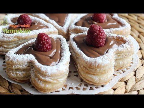 Çikolatalı Kalpli Milföy - YouTube