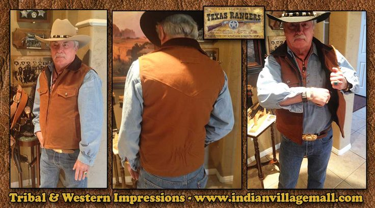 Canvas Concealed Carry Cowboy Vest From Tribal And Western Impressions - www.indianvillagemall.com