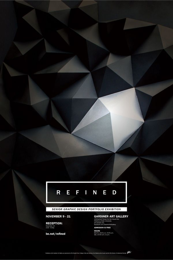 Refined, Graphic Design Exhibition http://www.behance.net/gallery/REFINED-Exhibition/2485471
